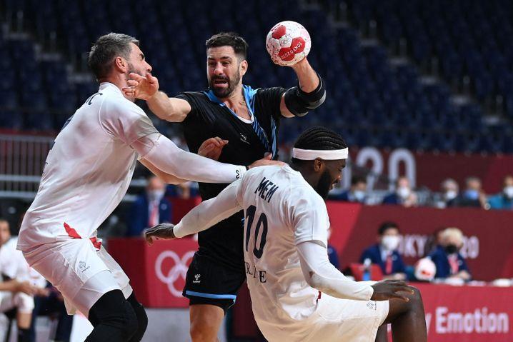 Frankreichs Superstar Nikola Karabatic erzielte sieben Tore, es sind bereits seine fünften Olympischen Spiele