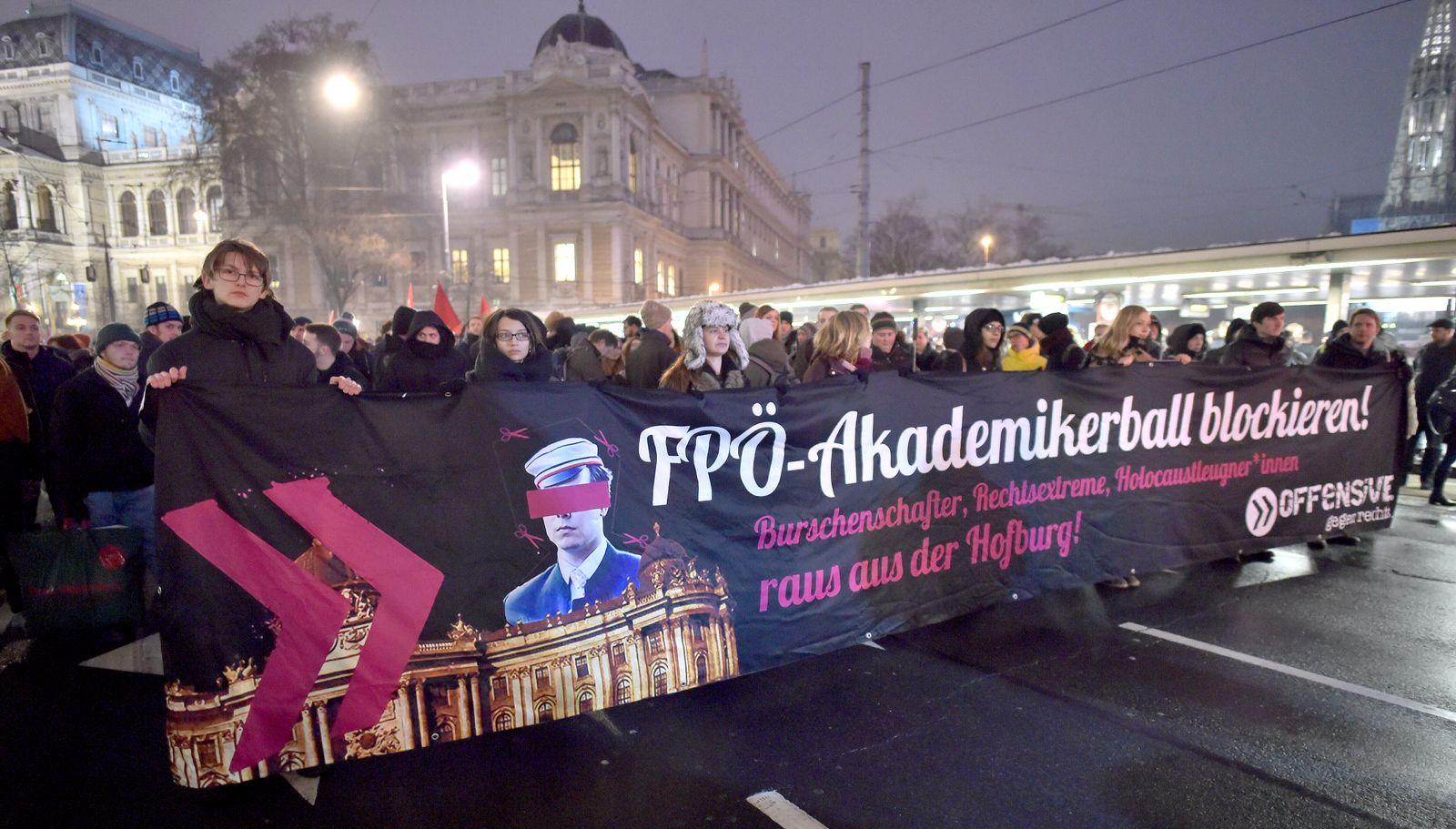 Demo FPÖ-Akademikerball blockieren