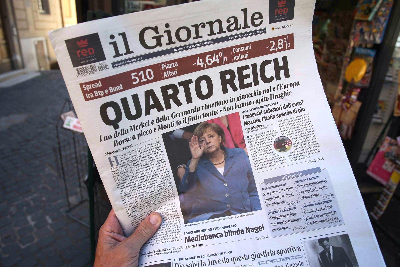 Italien Merkel Protest