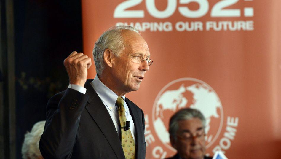 """Jørgen Randers bei der """"2052""""-Präsentation: Zusammen eine bessere Welt schaffen"""