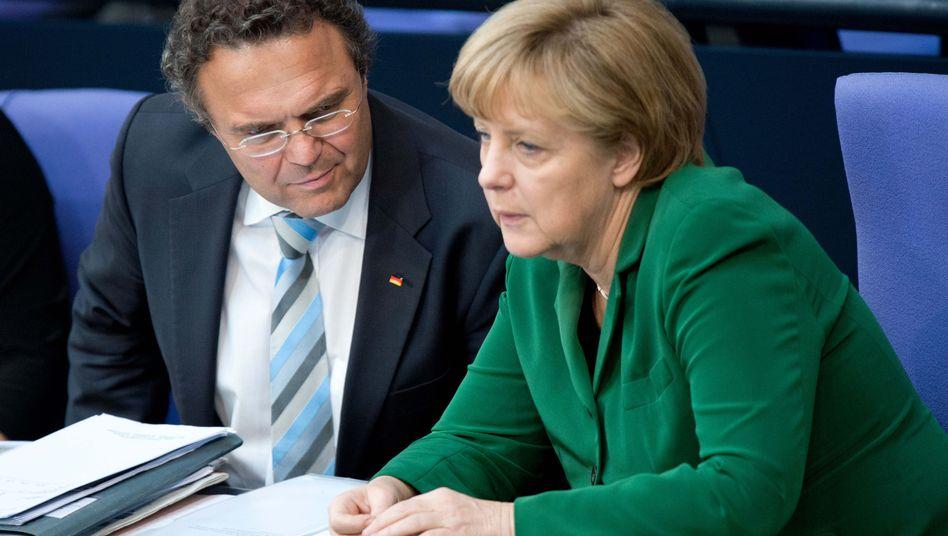Unionskollegen Friedrich und Merkel 2013