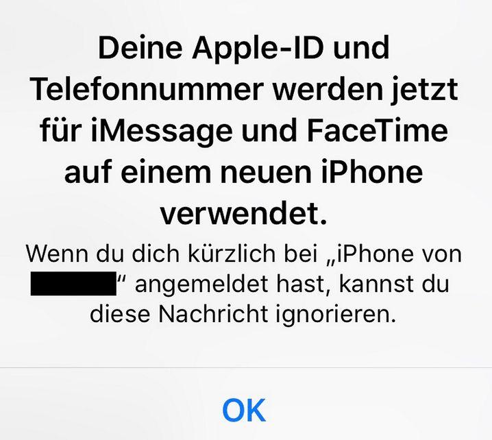 Apple-Warnung