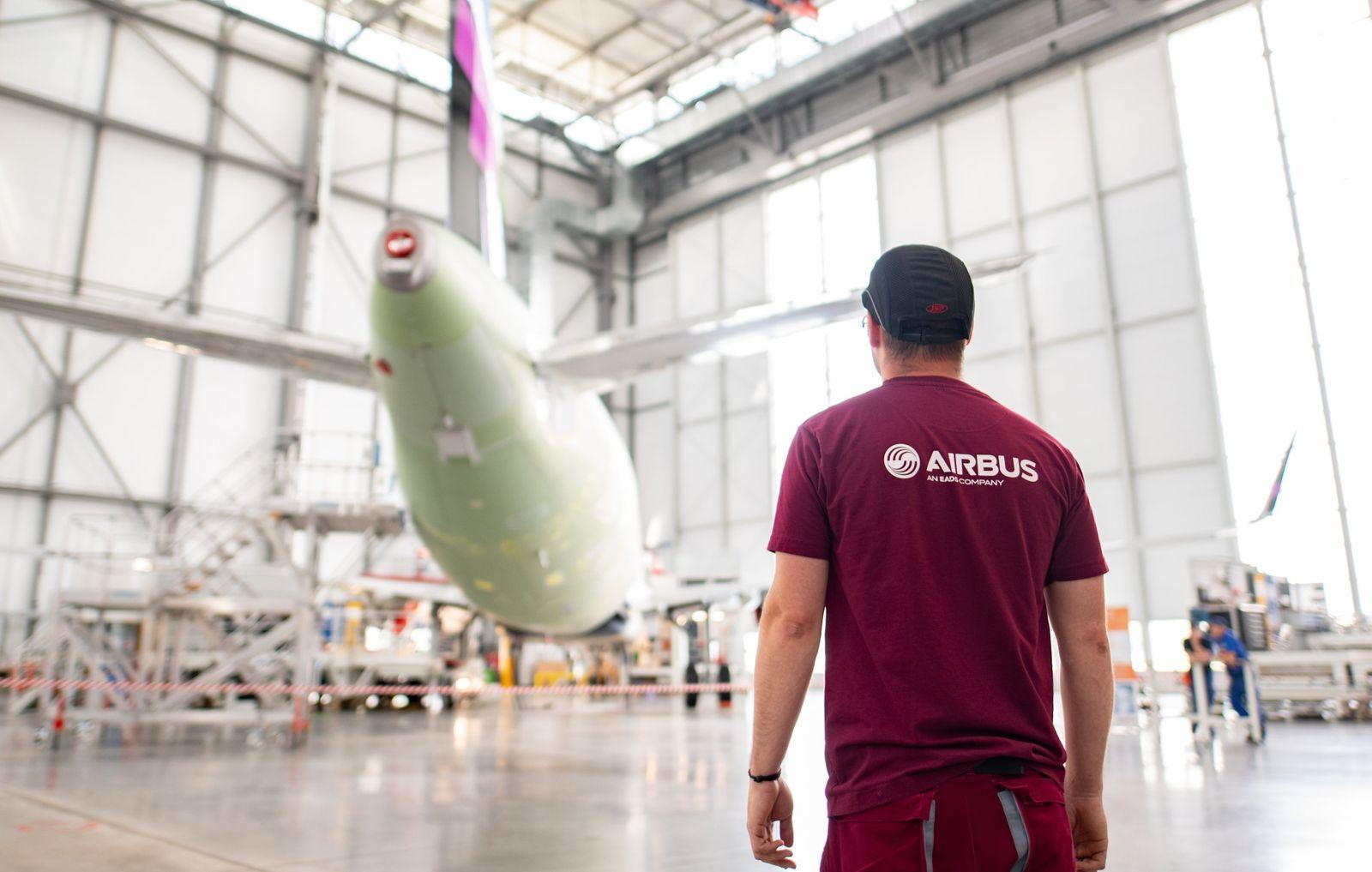 A320-Fertigungslinie bei Airbus