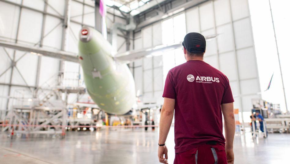 Airbus-Mitarbeiter im Werk Hamburg (2018)