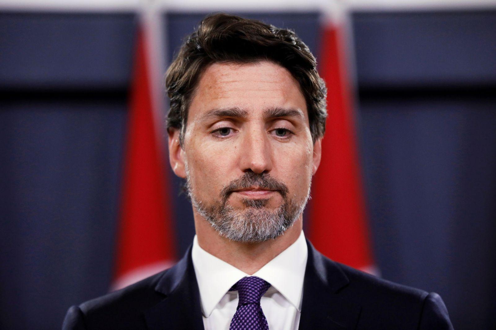 Canada's PM Trudeau attends a news conference in Ottawa