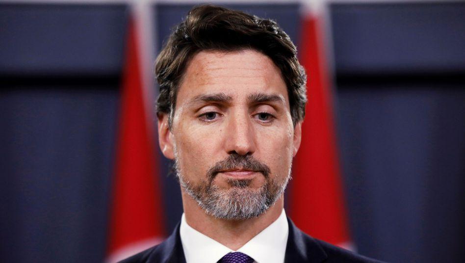 Justin Trudeau (im Januar 2020): Jede Menge Ärger wegen WE Charity