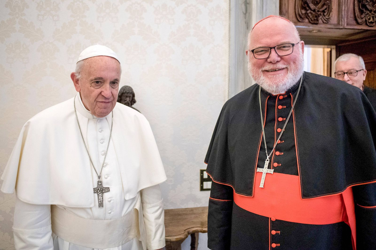 NO FRANCE - NO SWITZERLAND: May 27, 2019 : Pope Francis meets Card. Reinhard Marx, Archbishop of München und Freising (
