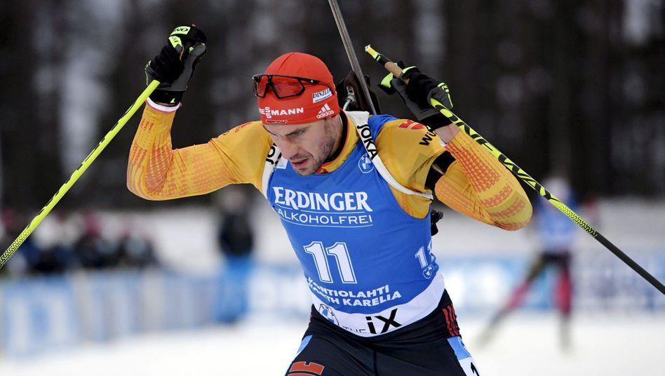 Arnd Peiffer beim 10-Kilometer-Rennen am vergangenen Wochenende