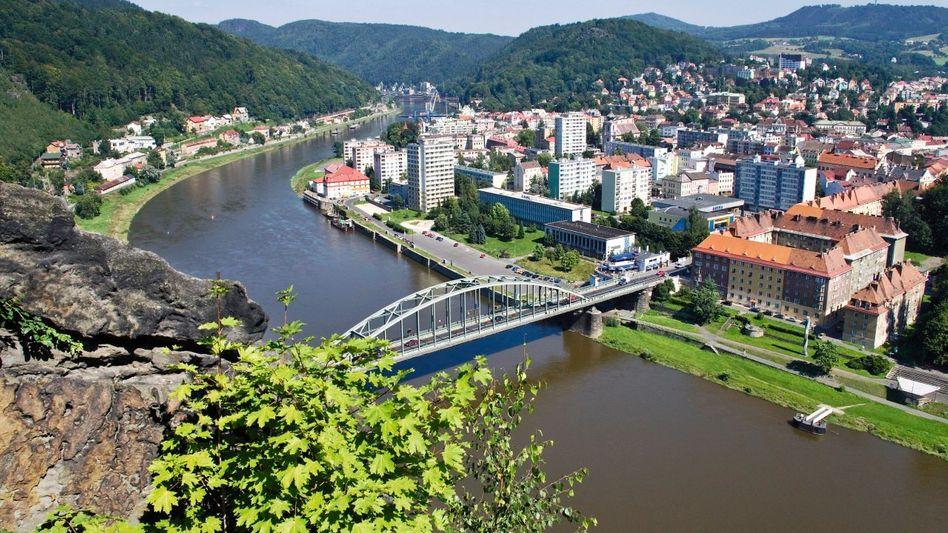 Elbe in Decin