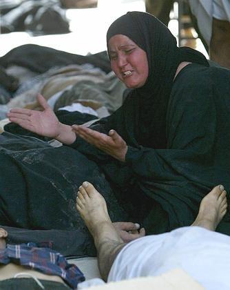 Trauernde Frau in Bagdad: Bis zu 1000 Menschen starben nach einer Massenpanik