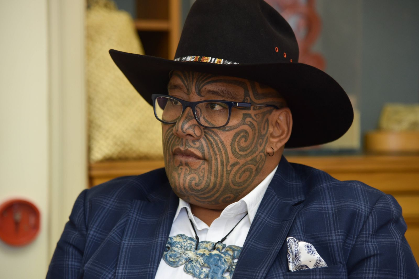 NEW ZEALAND POLITICS, Maori Party co-leader Rawiri Waititi is seen at his parliamentary office in Wellington, New Zeala