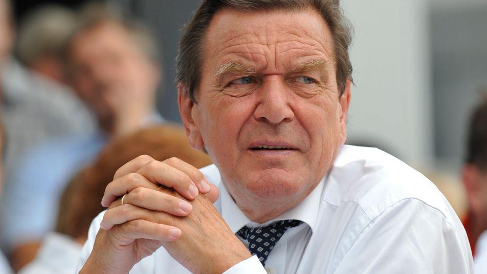 Skeptisch: Altkanzler Schröder sagt, für Nabucco brauche man Gas aus Iran