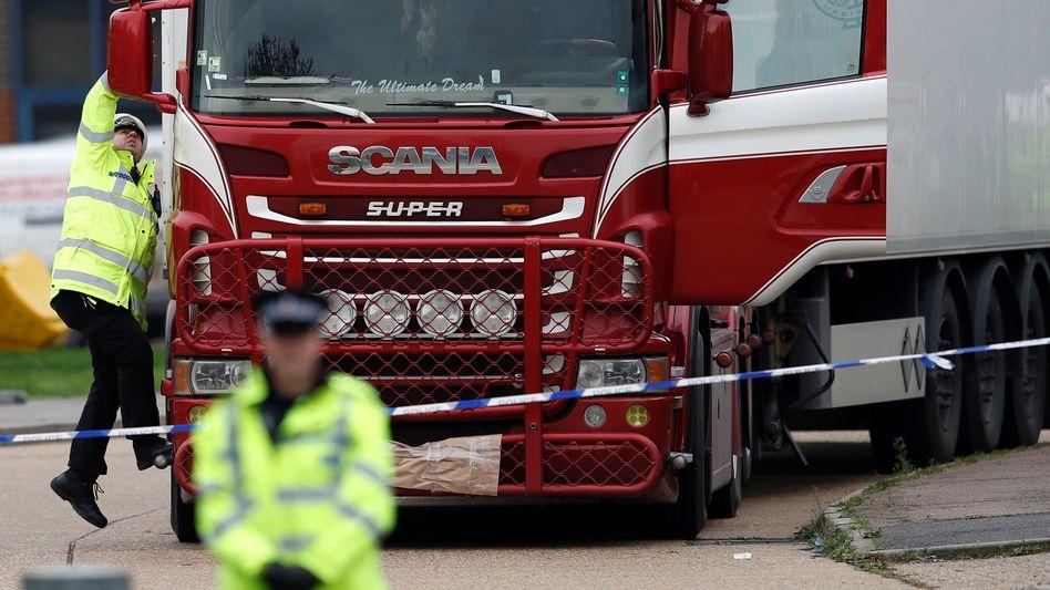 Der Lkw mit 39 Opfern wurde im britischen Grays gefunden