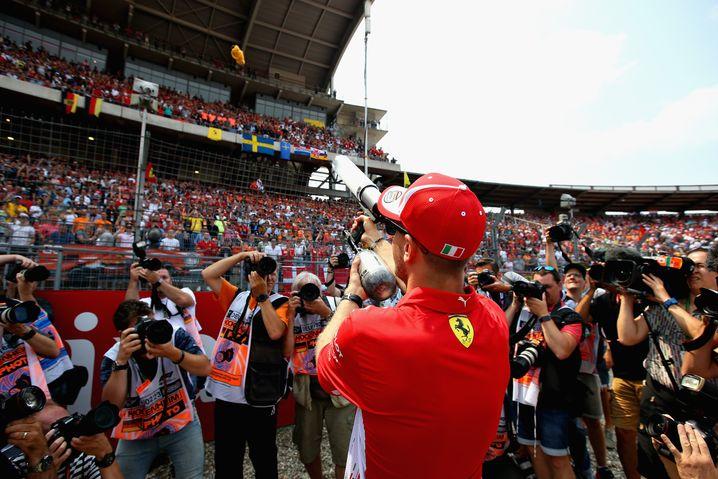 Jubel über Sebastian Vettel