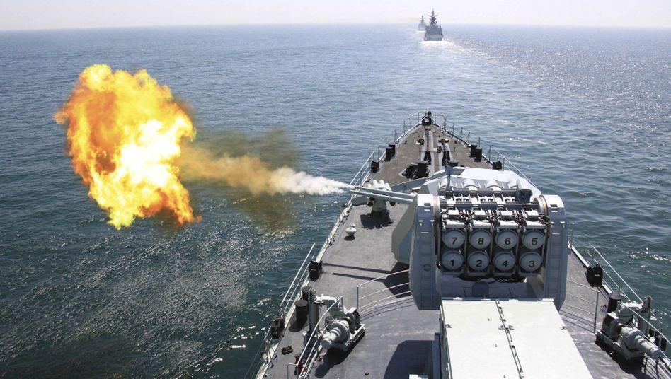 Chinesisches Kriegsschiff (Archivbild): Stärke in der Region demonstrieren