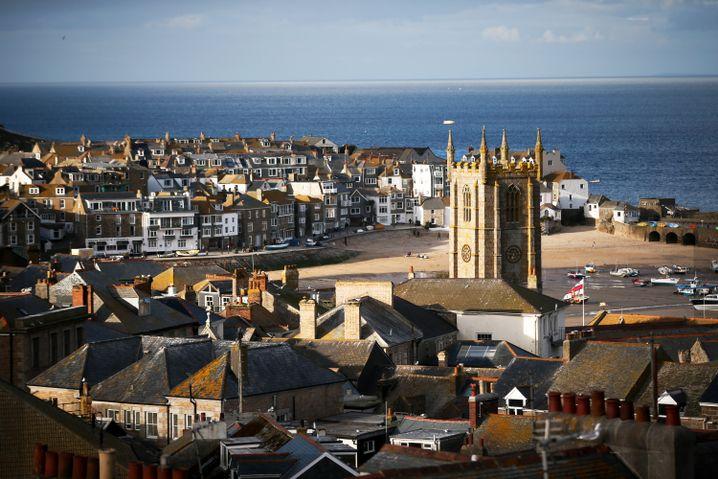 Küstenstadt Saint Ives in Cornwall