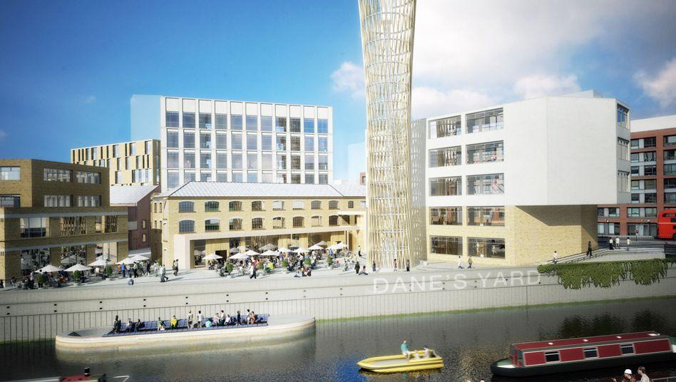 """Computersimulation des Ikea-Stadtteils """"Strand East"""" in London: Bald auch in Hamburg?"""