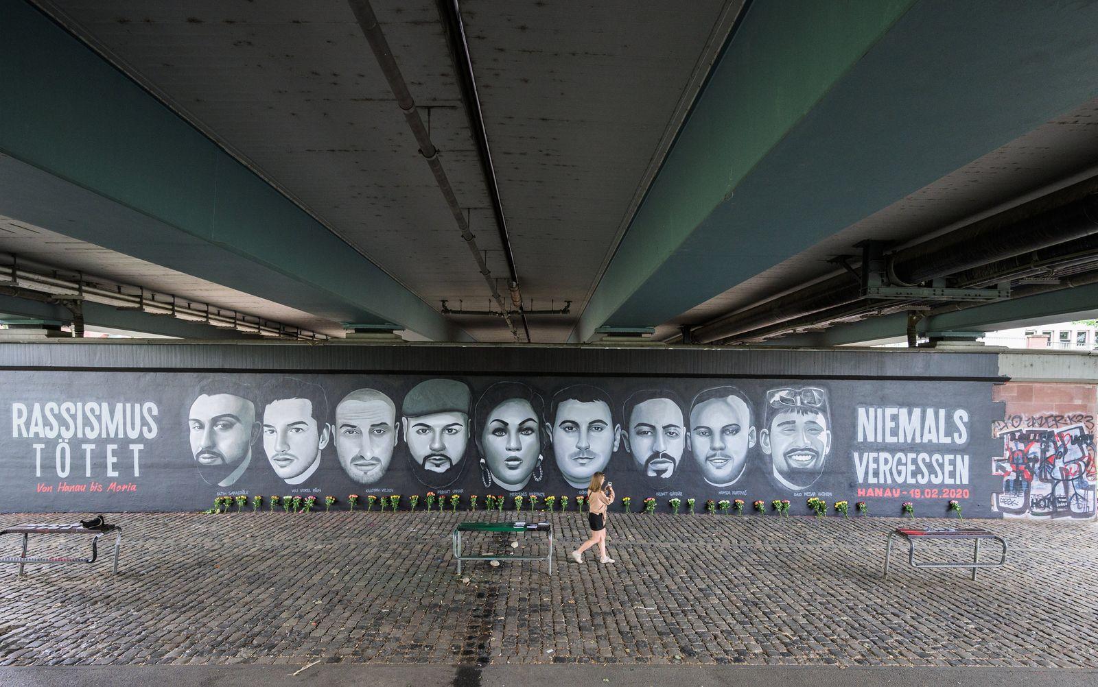 Gemälde erinnert an die Opfer von Hanau