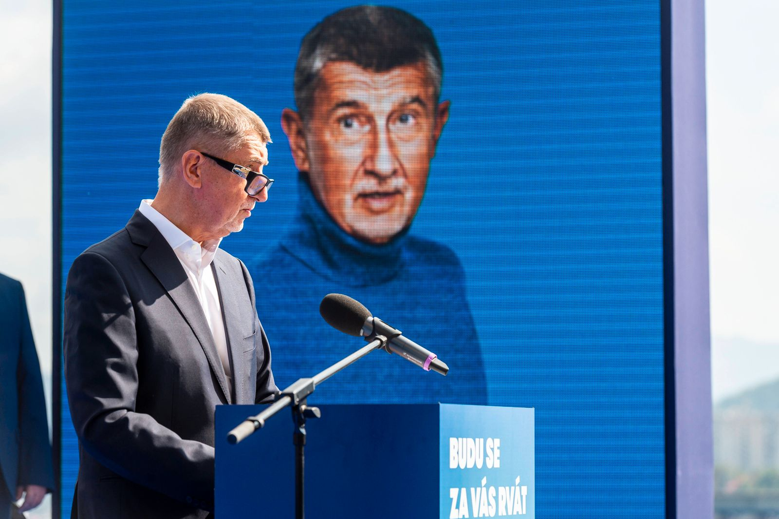 Czech Prime minister and ANO movement chairman Andrej Babis speaks during launch of election campaign of the movement,