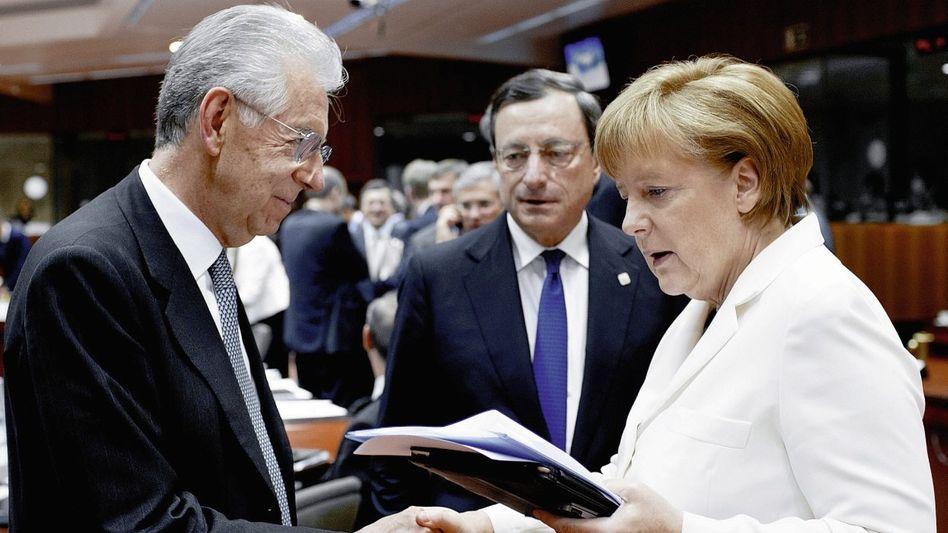 Euro-Partner Monti, Draghi, Merkel