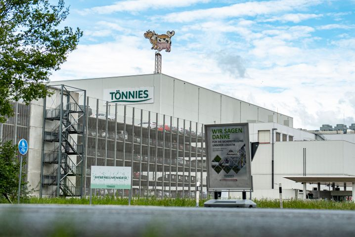 Firmengelände der Fleischfabrik Tönnies in Rheda-Wiedenbrück
