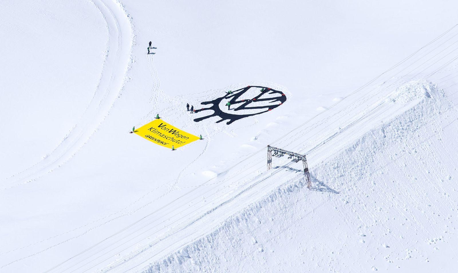 Greenpeace-Aktion auf der Zugspitze