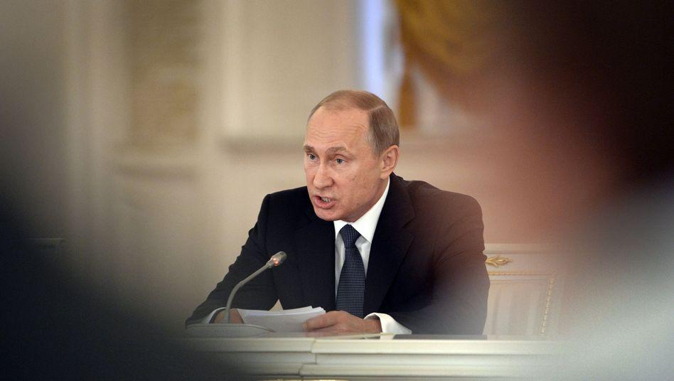 Russischer Präsident Putin: NGO No!