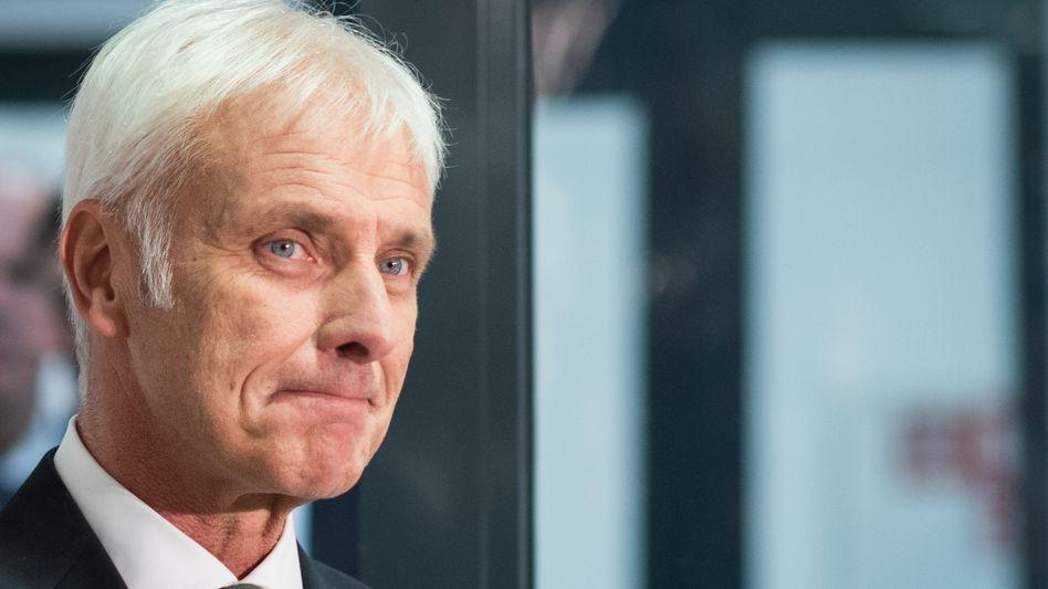 """VW-Chef Müller (Archiv): """"Das wird nicht ohne Schmerzen gehen"""""""