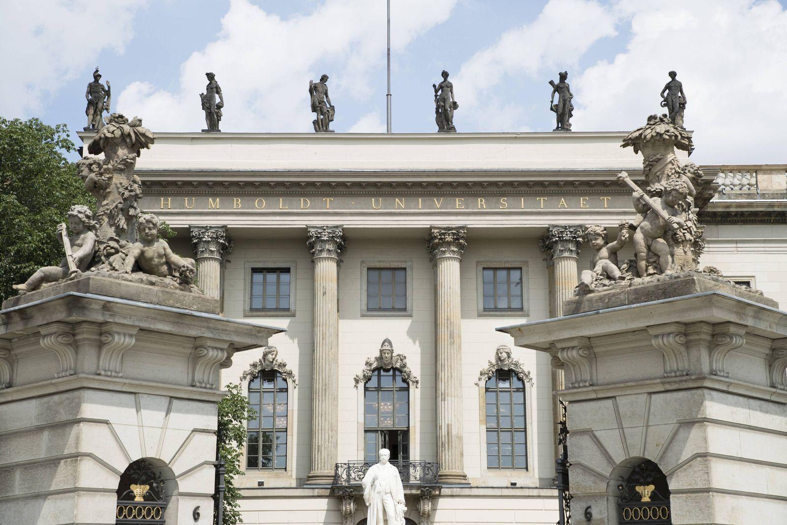 EINMALIGE VERWENDUNG Berlin/ Humboldt-Universität