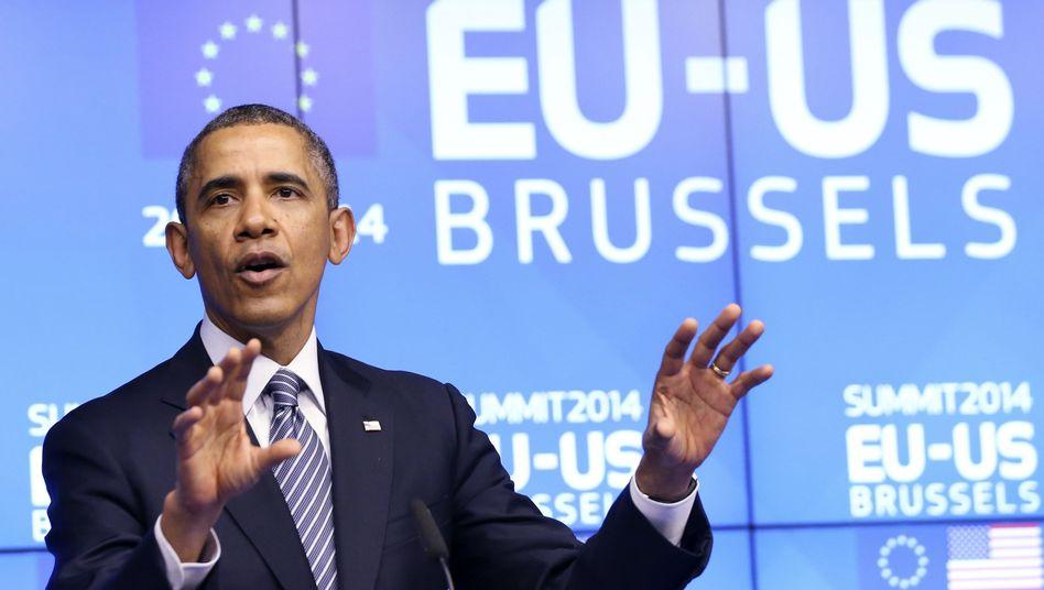 Obama: Zeigte sich nicht als entschiedener Vorkämpfer für den Freihandel
