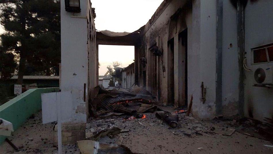 Zerstörte Klinik in Kunduz: 22 Tote bei US-Luftangriff