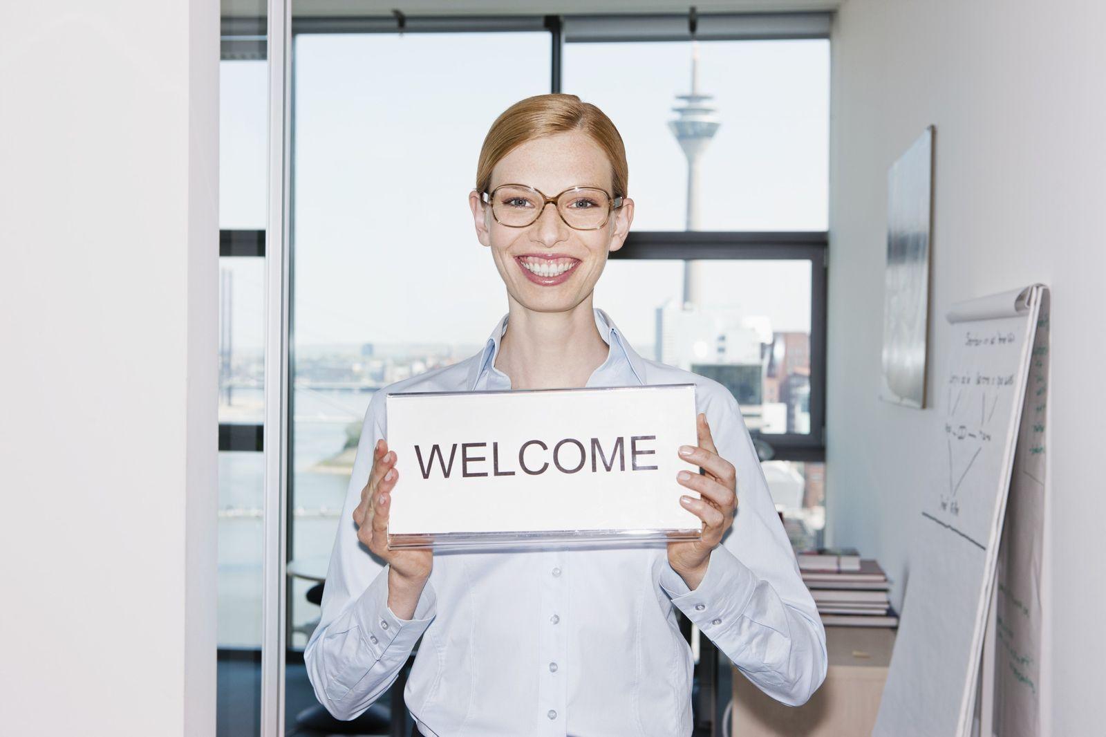 NICHT MEHR VERWENDEN! - KaSP Willkommen Welcome Büro Neuling SYMBOLBILD