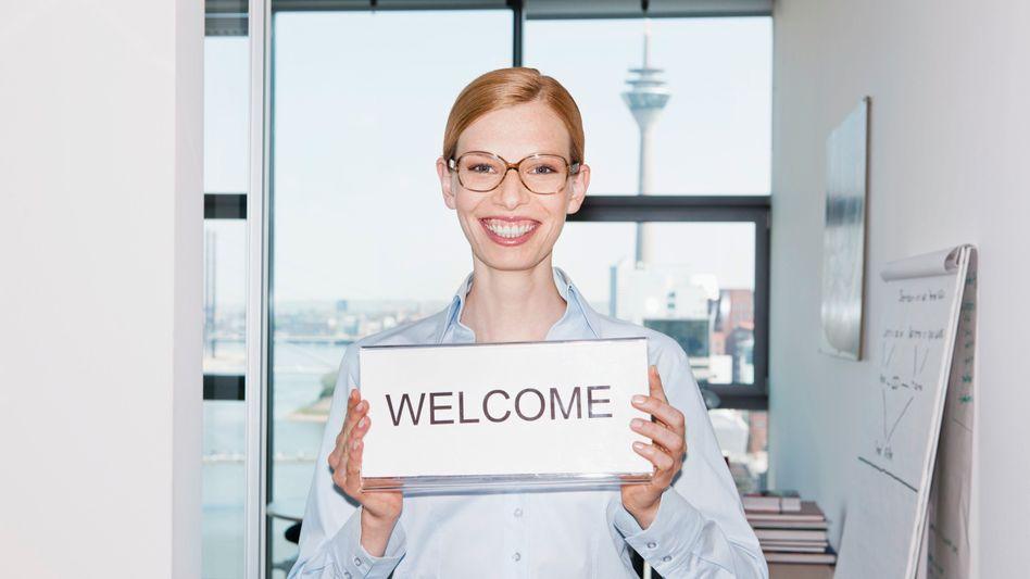 Ein freundliches Lächeln: Zu wenig für einen Empfang im Silicon Valley (Symbolbild)