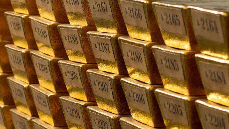 Goldbarren der Bundesbank