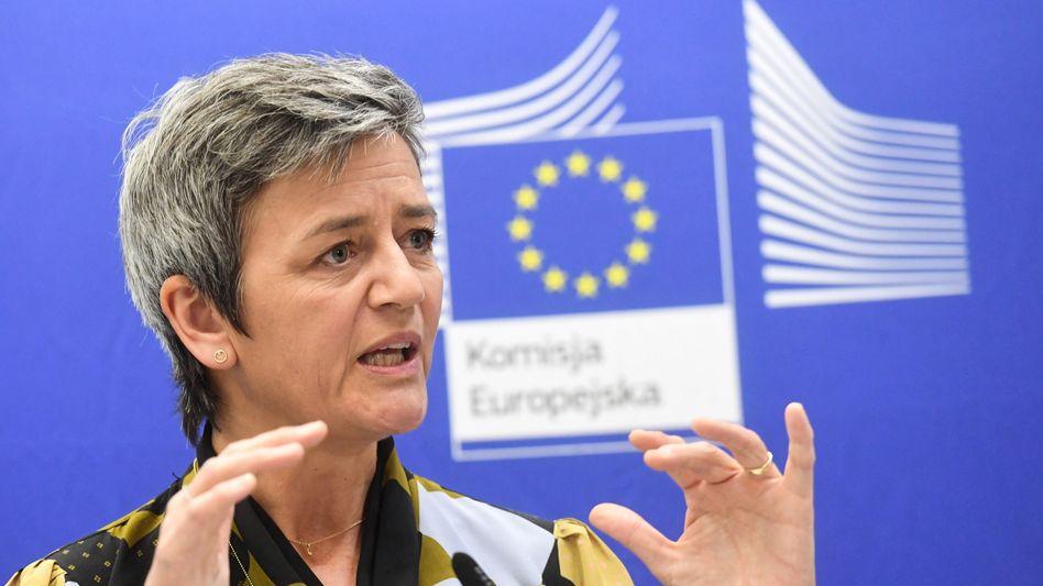 """Margrethe Vestager (Archivbild): """"Zusammen mit den Mitgliedstaaten wollen wir dem einen Riegel vorschieben"""""""