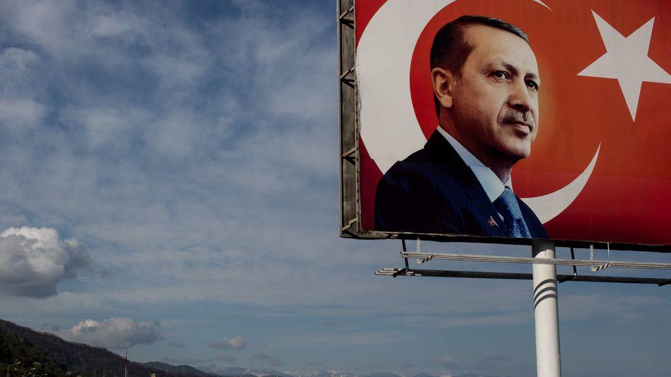 Erdogan-Plakatwand