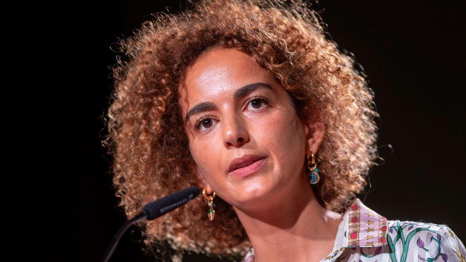 Die französisch-marokkanische Autorin Leïla Slimani bei der Eröffnung des Internationalen Literaturfestivals Berlin ILB 2021