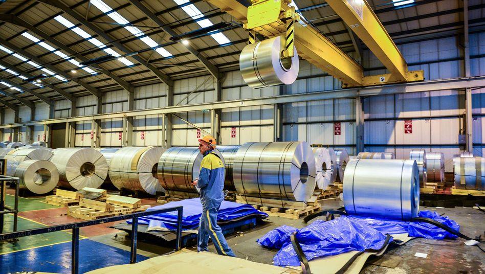 Stahlproduktion im britischen Wolverhampton