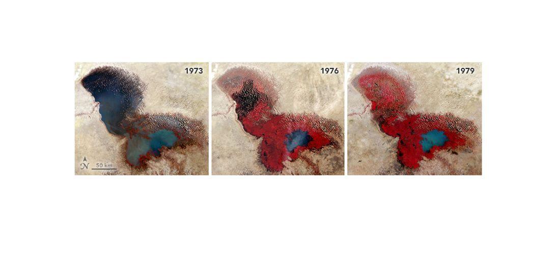 EINMALIGE VERWENDUNG Satellitenbild/ KW 2/ Tschad-See