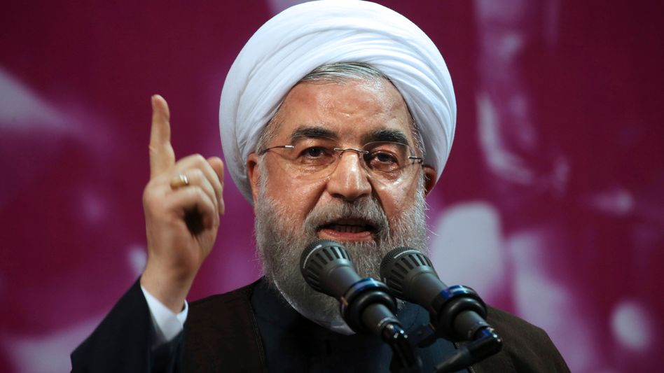 """Der iranische Präsident Hassan Rohani hat die Sanktionen als """"Zeichen einer geistigen Behinderung"""" bezeichnet"""
