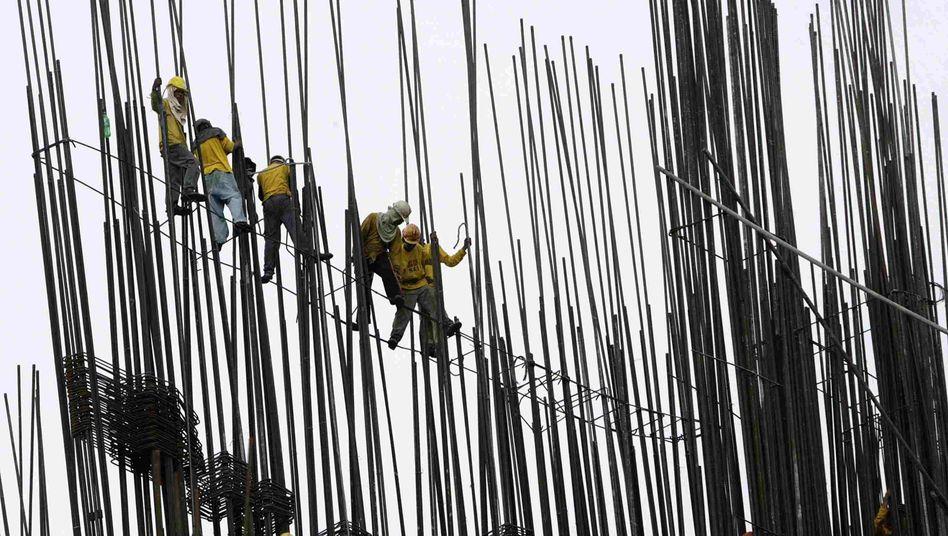 Philippinische Bauarbeiter