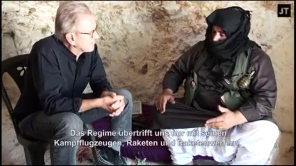 Jürgen Todenhöfer with alleged rebel commander