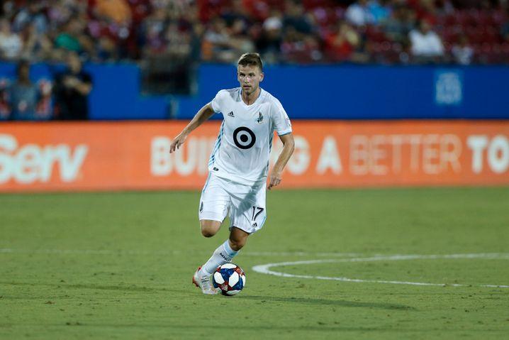 Collin Martin im Jahr 2019 im Trikot von MLS-Team Minnesota United