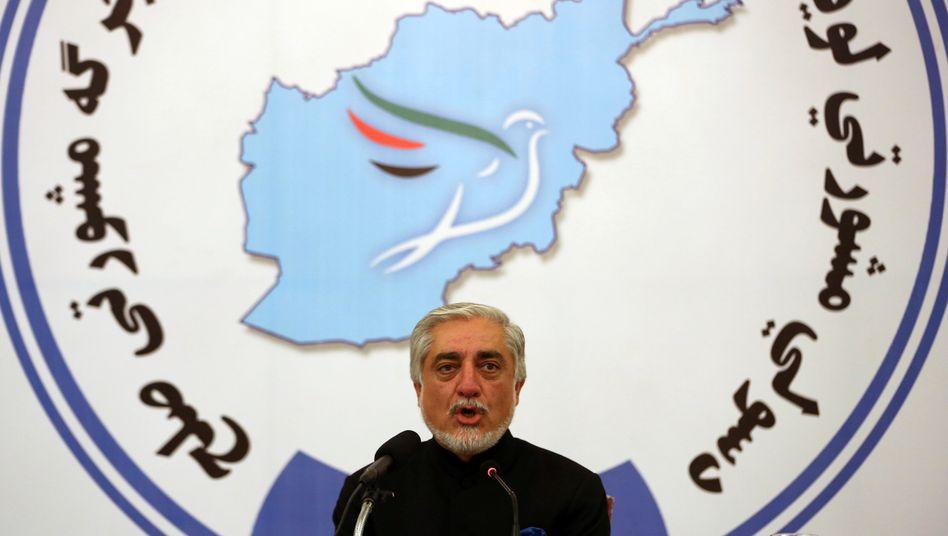 Abdullah Abdullah, Vorsitzender der Ratsversammlung, die über diese zentrale Frage der Gefangenenfreilassung entschieden hat