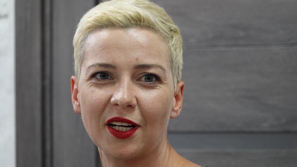 Oppositionelle Marija Kolesnikowa: Beamte hätten ihr bei der Verhaftung einen Sack über den Kopf geworfen