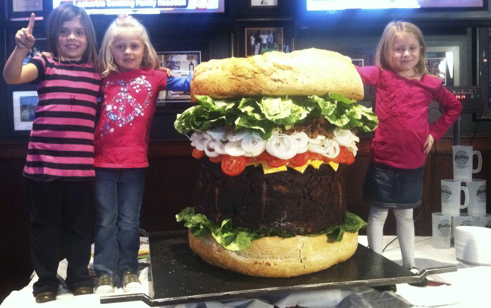 Einmalige Verwendung Großer Hamburger in USA