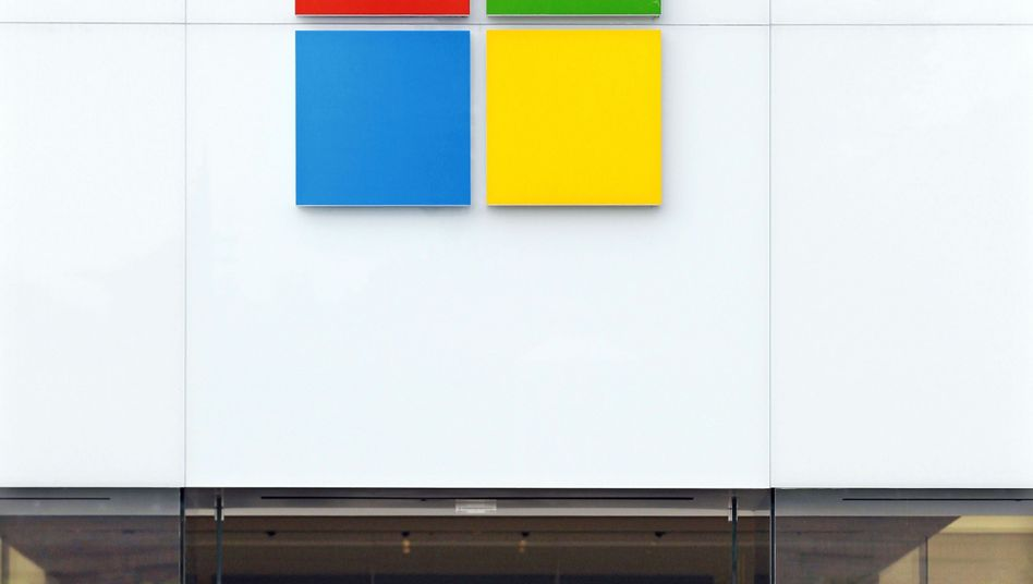 Das neue Microsoft-Logo: prominent platziert am Microsoft-Store in Seattle