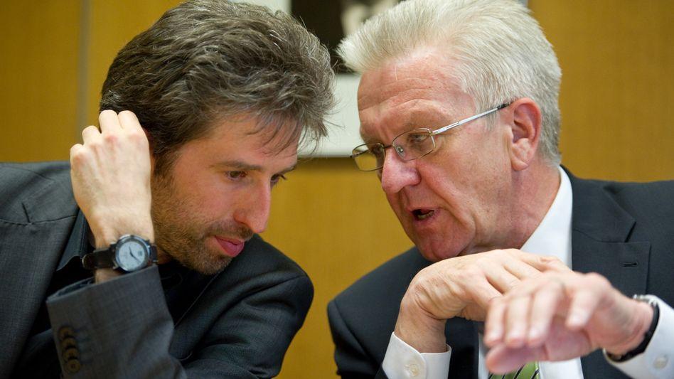 Boris Palmer (l.) und Winfried Kretschmann (r.)