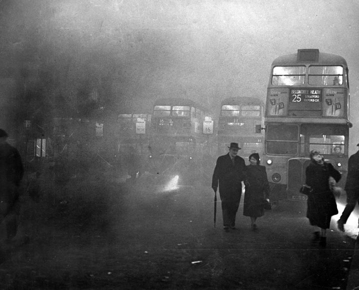 Victoria-Station in London am 5. Dezember 1952