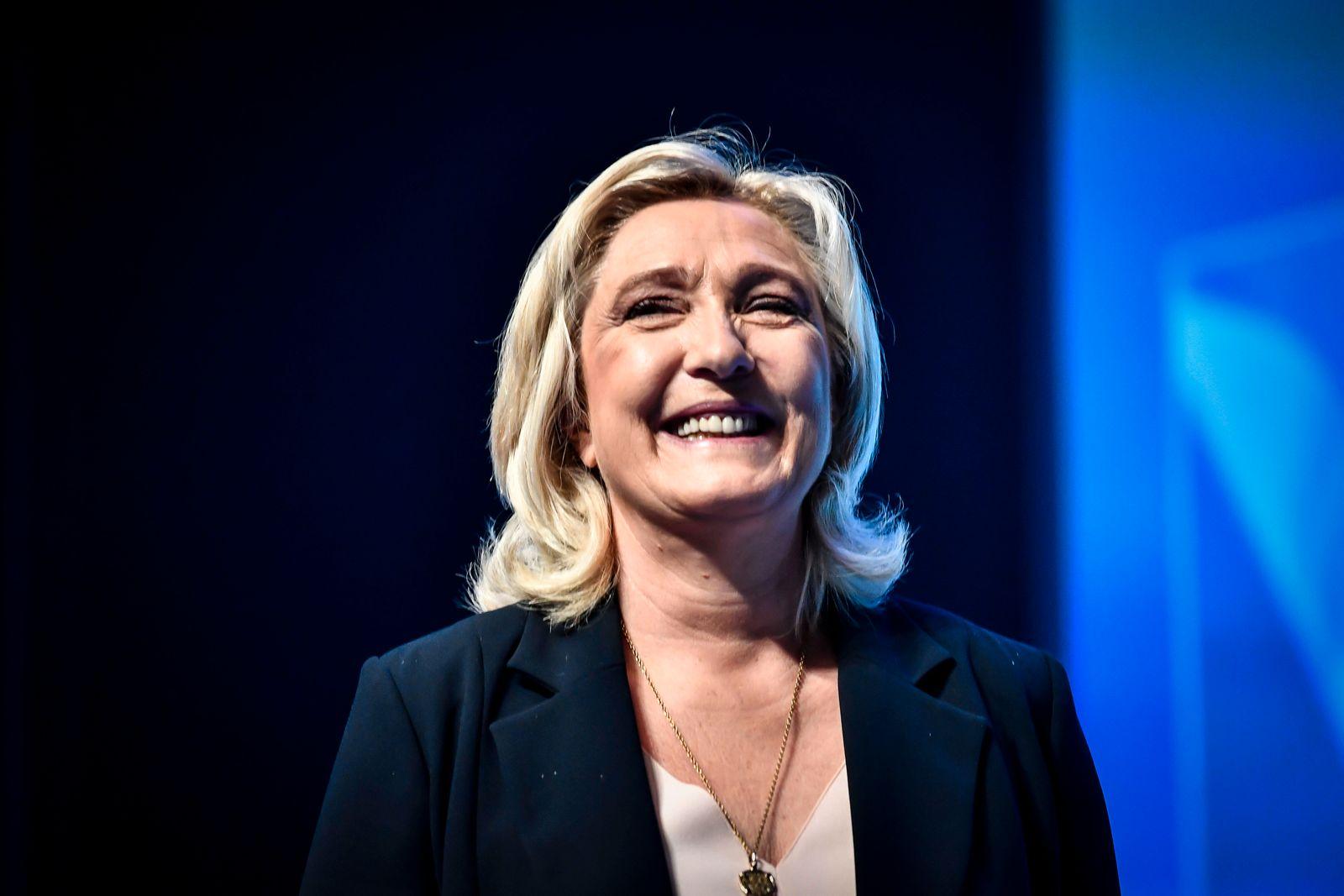 Frankreich, Parteitag des Rassemblement National in Perpignan Marine Le Pen NEWS : Congres du Rassemblement National - P
